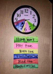 vuelta al cole reloj